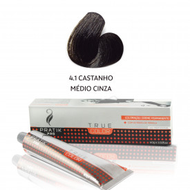 TINTA CASTANHO MÉDIO CINZA 4-1 60g