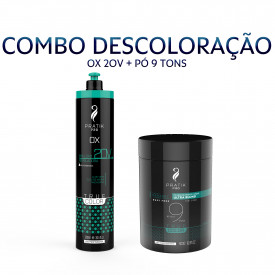 KIT DESCOLORAÇAO - PÓ 9 TONS + OX 20VOLUMES
